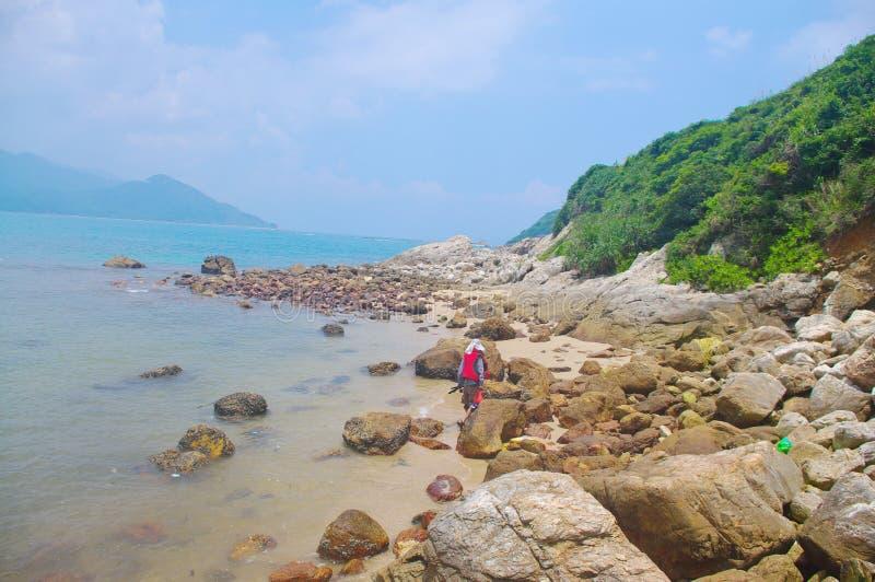 penhasco do beira-mar de Hong Kong fotografia de stock royalty free