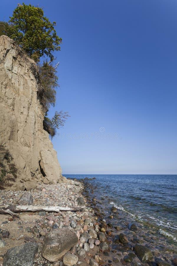 Penhasco do beira-mar - Polônia de Gdynia Orlowo fotos de stock