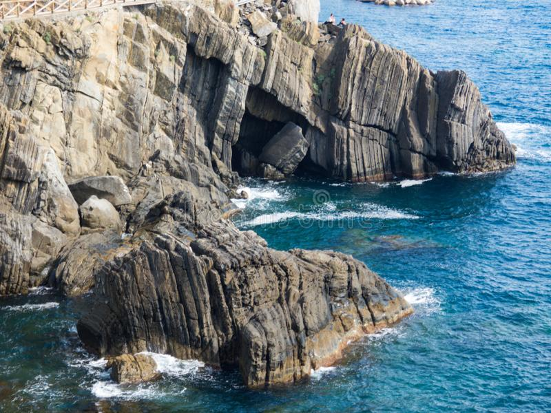 Penhasco italiano, Rio Maggiore fotos de stock