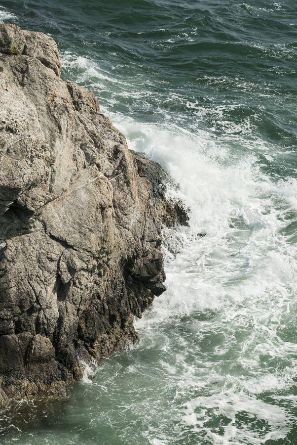 Penhasco na baía de Narragansett fotografia de stock royalty free