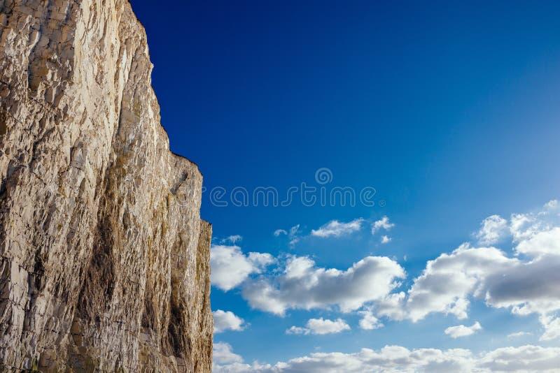 Penhascos brancos de Birling Gap ou Dôvar No Reino Unido fotos de stock