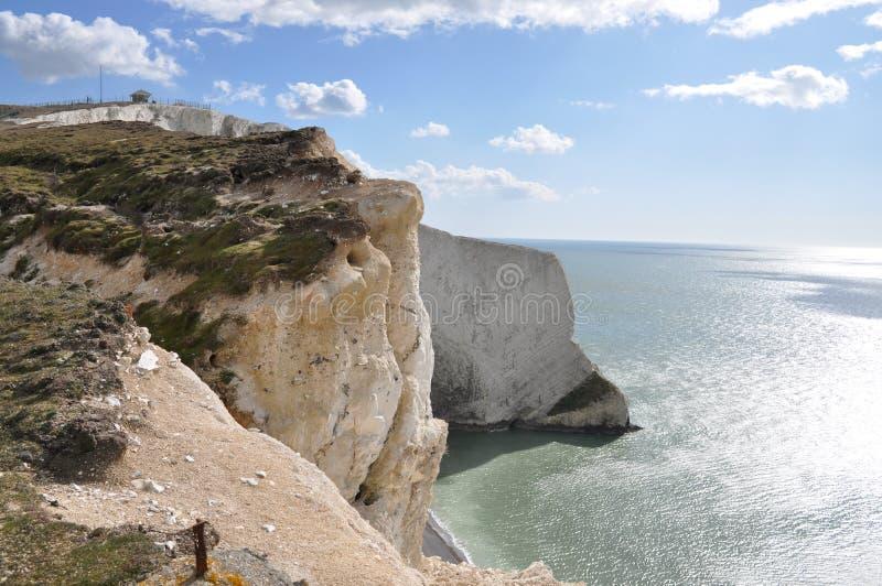 Penhascos da ilha do Wight fotos de stock royalty free