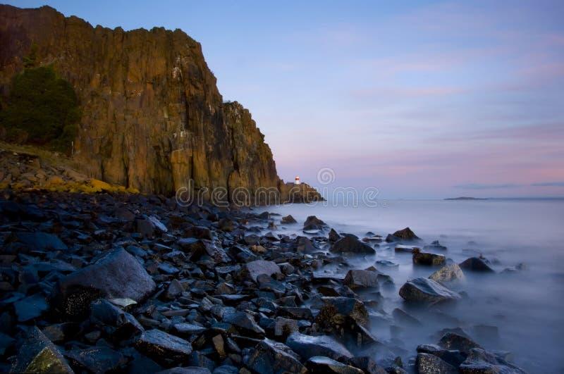 Penhascos de Aberdour, Fife fotografia de stock