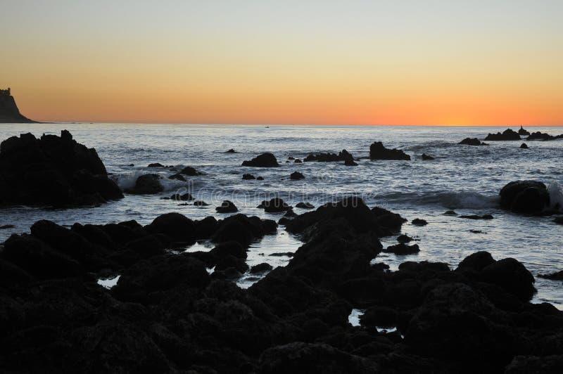 Penhascos de Califórnia fotografia de stock