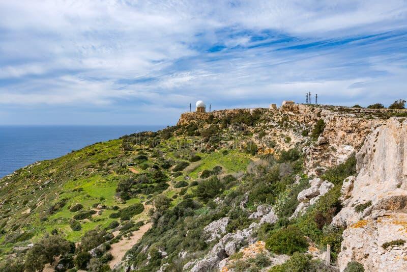 Penhascos de Dingli, Malta foto de stock royalty free