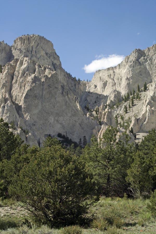 Penhascos de giz de Colorado imagens de stock royalty free