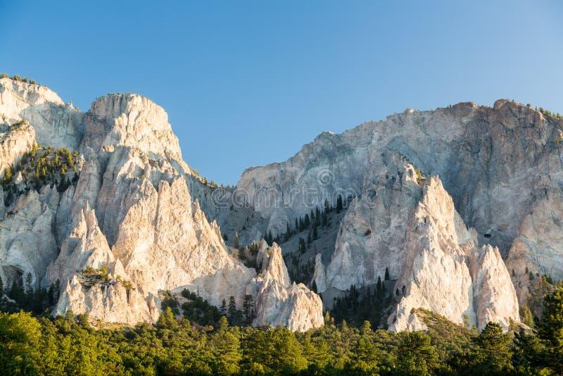 Penhascos de giz de Mt Princeton Colorado fotografia de stock royalty free
