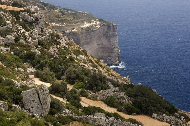 Penhascos de Malta - de Dingli imagens de stock royalty free