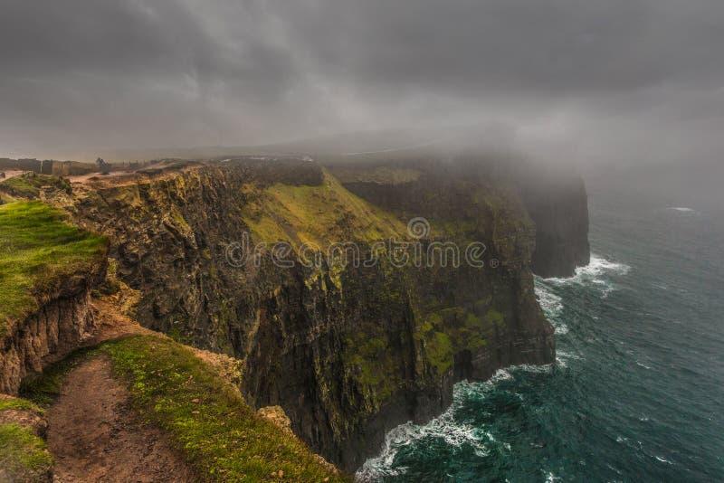 Penhascos de Moher, Gallway, Irlanda foto de stock