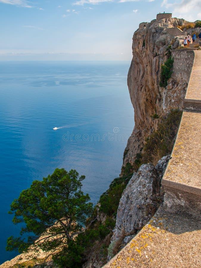 Penhascos do Formentor, Mallorca foto de stock