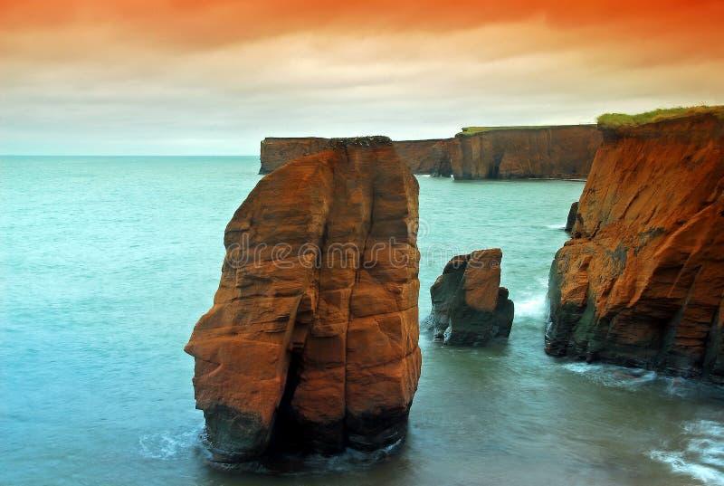 Penhascos do mar fotos de stock royalty free