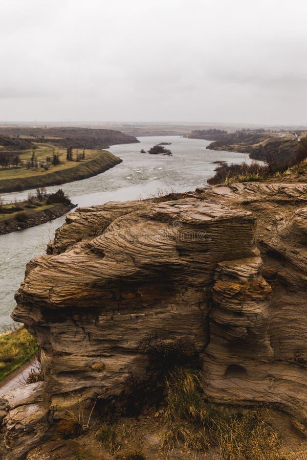 Penhascos do Rio Missouri fotos de stock