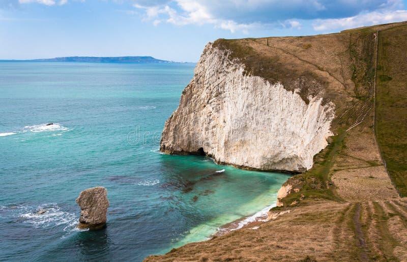 Penhascos jurássicos Dorset Inglaterra da costa foto de stock royalty free