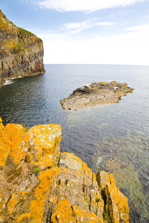 Penhascos, Scotland fotografia de stock royalty free