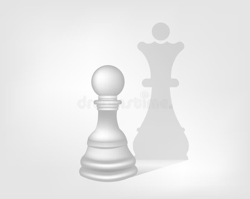 Penhor com a sombra da rainha imagens de stock royalty free