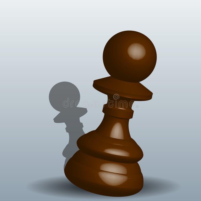 Penhor da xadrez - vector a ilustração com uma sombra em um fundo cinzento Eps 10 ilustração do vetor