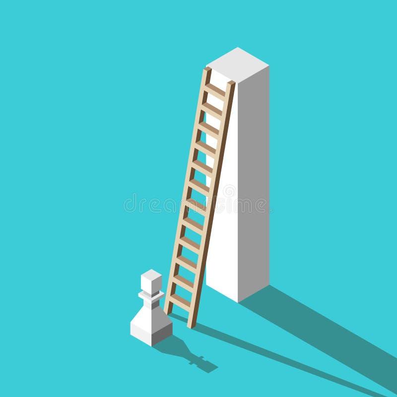 Penhor, suporte alto, escada ilustração stock