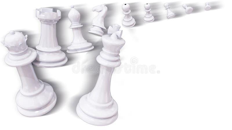 Penhor todo da xadrez na ?rbita como planetas m?veis - rendi??o 3d ilustração do vetor