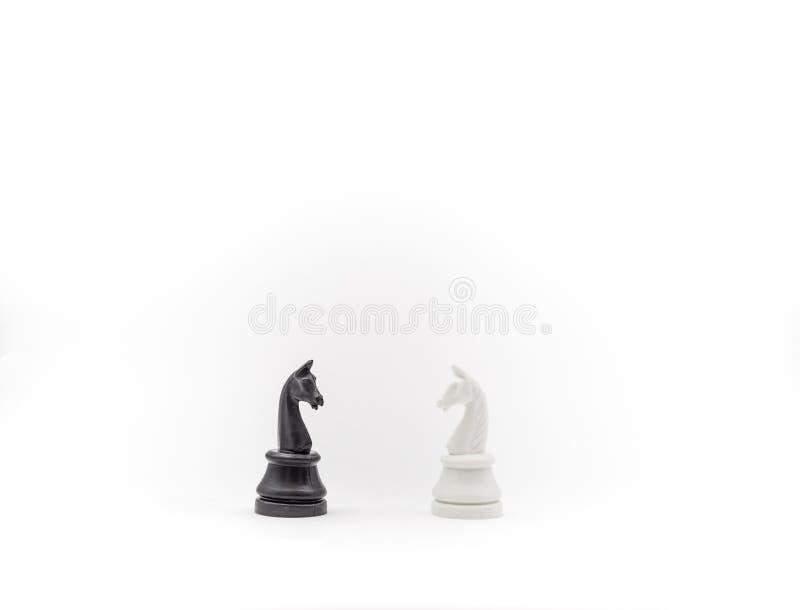 Penhores da xadrez no fundo branco, isolado imagem de stock