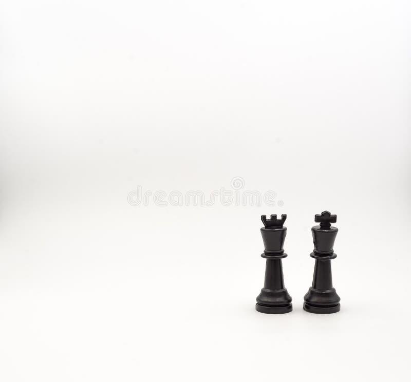 Penhores da xadrez no fundo branco, isolado fotografia de stock