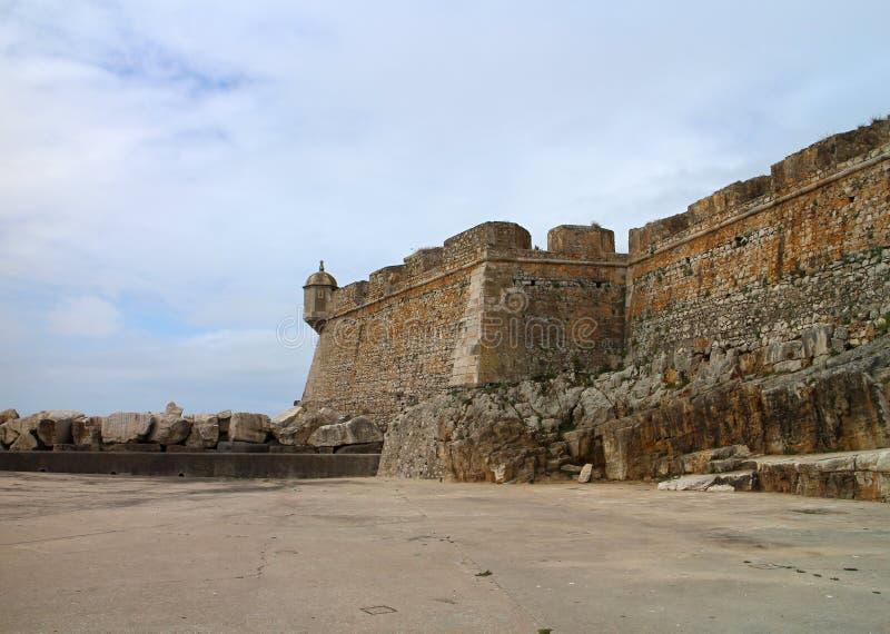 Peniche,葡萄牙堡垒  免版税库存照片