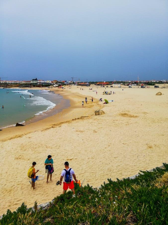 Peniche beach stock photo