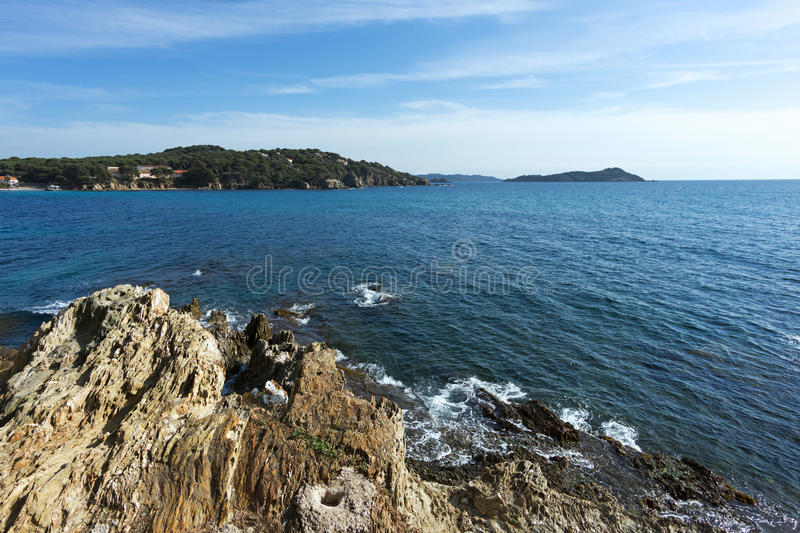 Peninsula of Giens royalty free stock photo