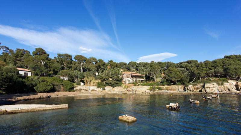 Peninsula of Giens stock photography