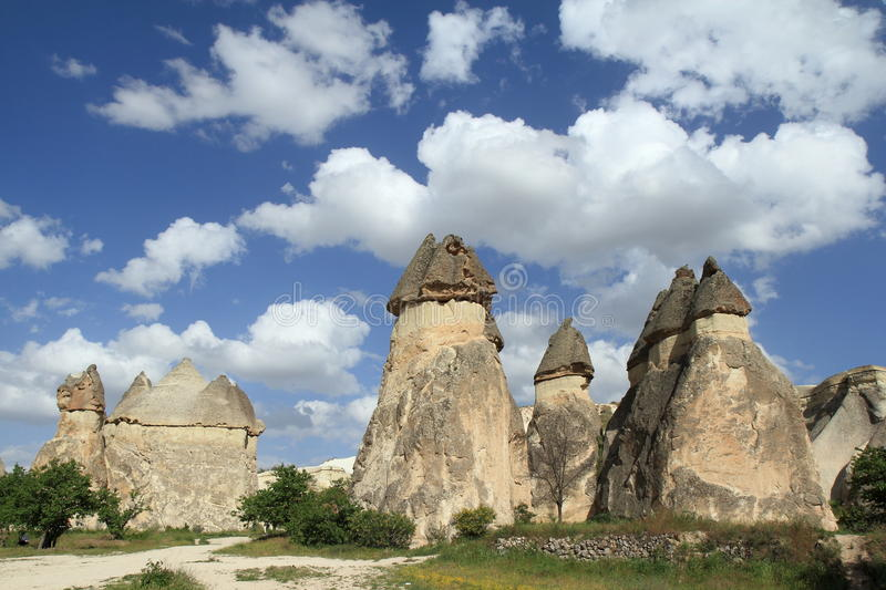 Penis shaped stone in the Love Valley,rock formations in Cappadocia royalty free stock images