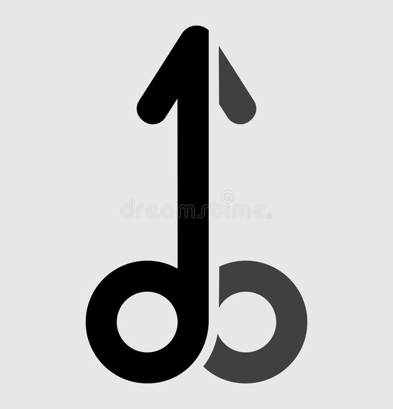 Penis symbol vector illustration