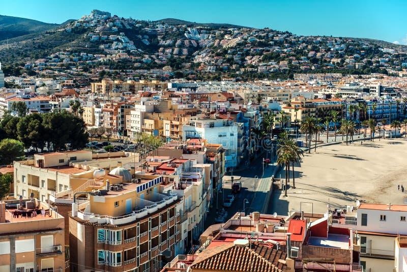 Peniscola miasto, Costa Del Azahar Hiszpania zdjęcia royalty free