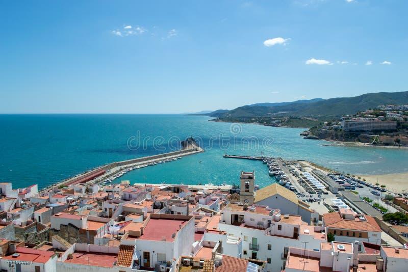 Peniscola, Spanje in de zomer royalty-vrije stock foto