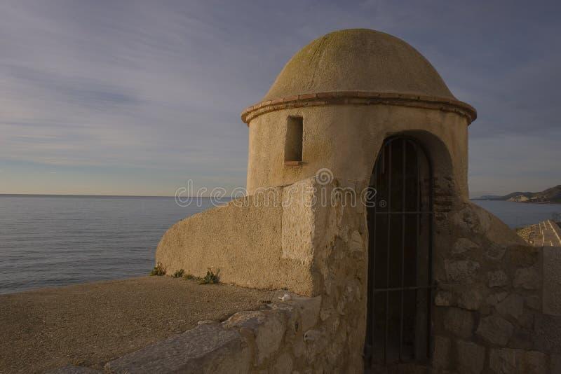 Peniscola spiaggia 15 gennaio 2015 del nord fotografie stock libere da diritti