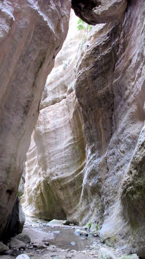 Penisola Akamaz Cipro di Avakas del canyon fotografia stock libera da diritti
