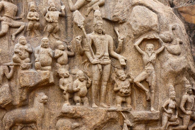 Penitência de Arjuna fotografia de stock