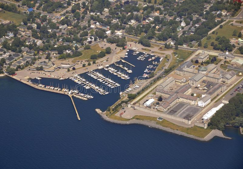 Penitenciária de Kingston, aérea imagem de stock royalty free