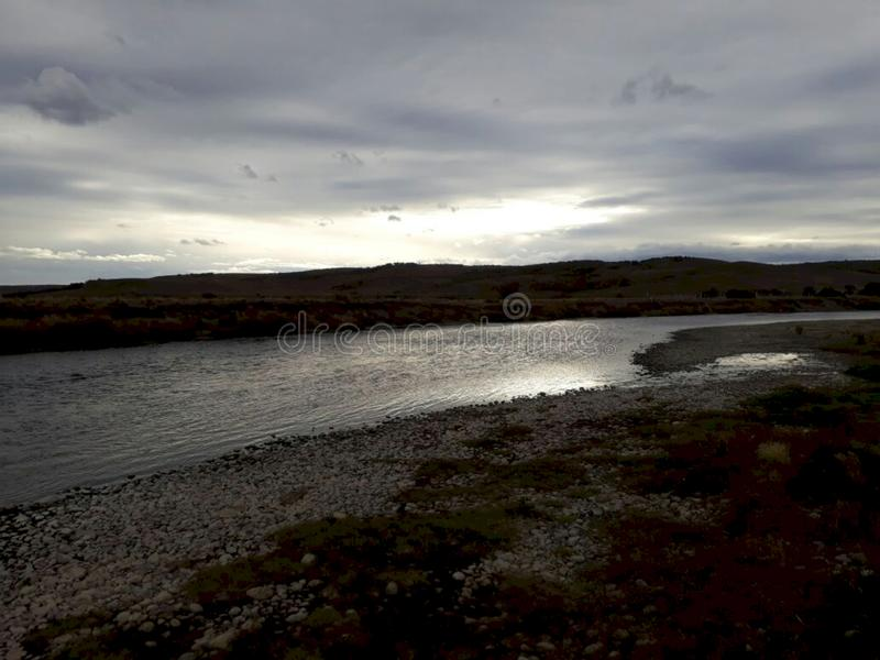 'Penitente 'flod i patagoniaen royaltyfri fotografi