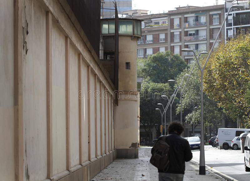 Penitentiary Center. Barcelona, Spain- November 05, 2016. The Penitentiary Center of Men of Barcelona, popularly known as Cárcel Modelo is a royalty free stock photos