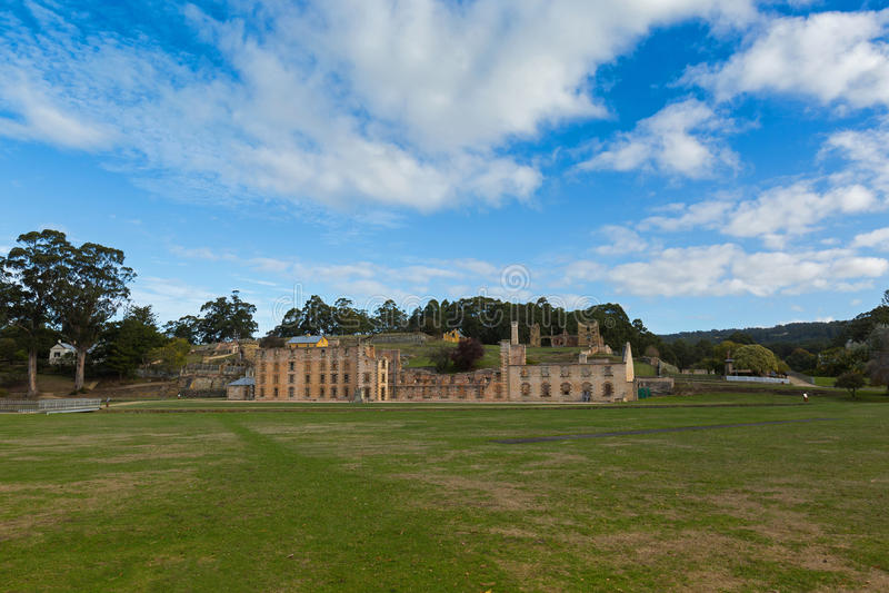 Penitenziario al sito di Arthur Historic del porto sulla penisola di Tasman dentro immagine stock libera da diritti
