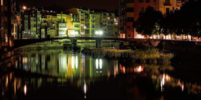 Penjades delle case, Girona, Spagna fotografia stock libera da diritti