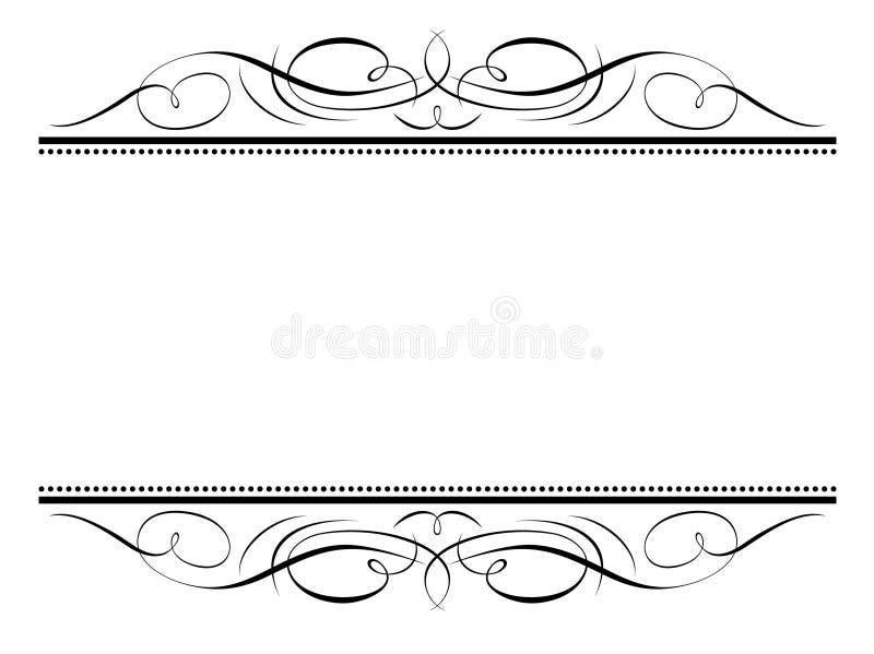 penmanship πλαισίων καλλιγραφία&sigma διανυσματική απεικόνιση