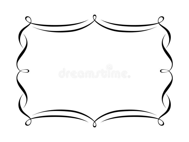 Penmanship decorative frame royalty free illustration