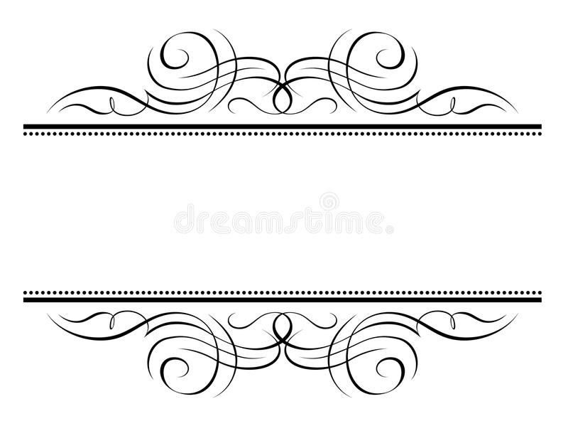 penmanship dekoracyjna ramowa winieta ilustracja wektor