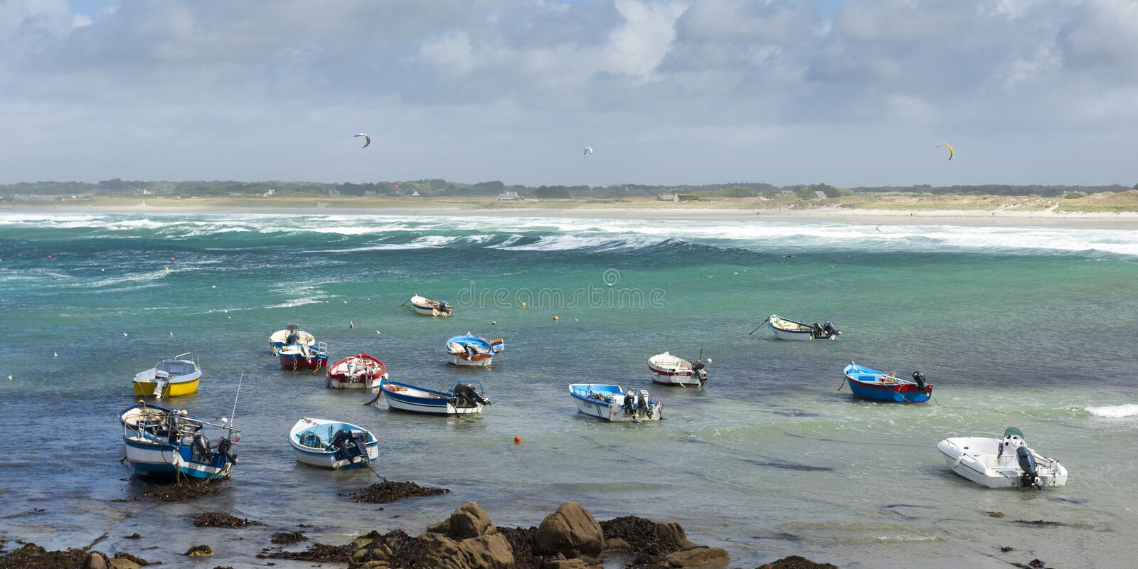 Penmarch dans brittany images stock
