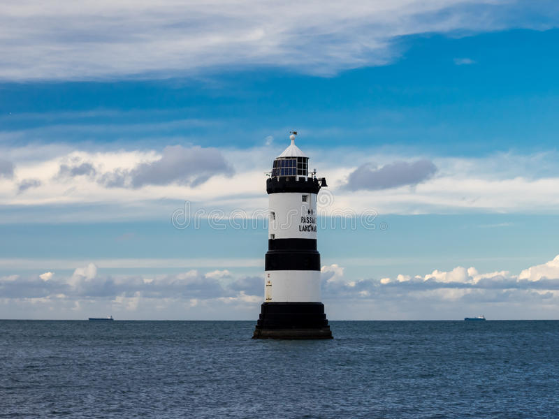 Penmon Lighthouse, Anglesey, Wales. royalty free stock images