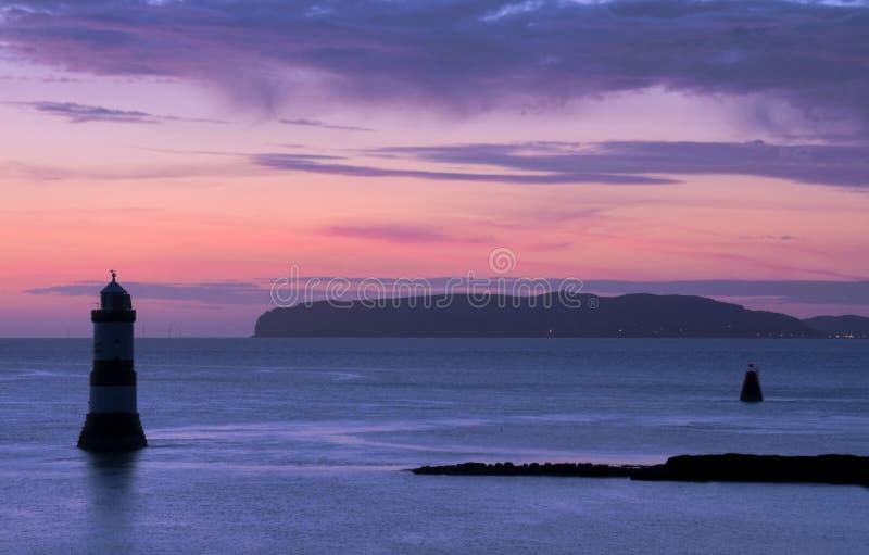 Penmon Punkt-Sonnenaufgang lizenzfreies stockbild