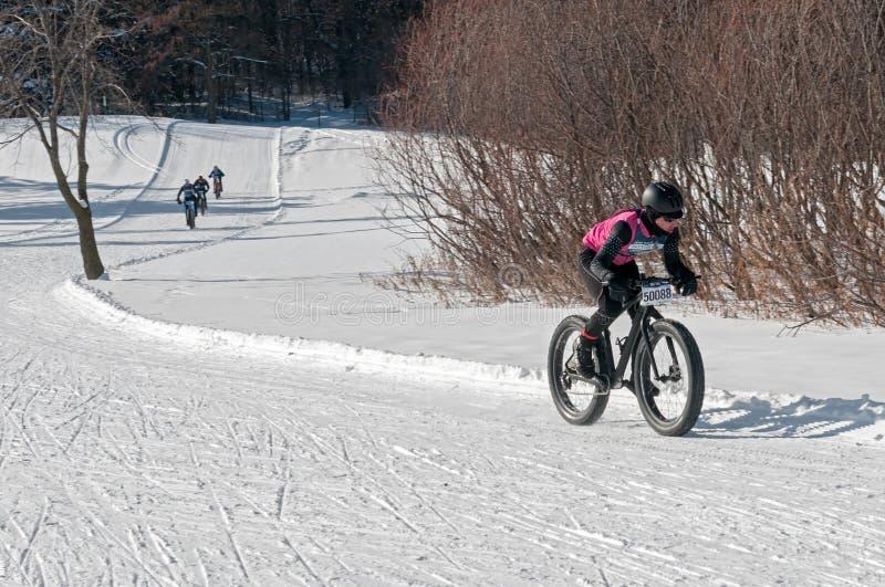 2014 Penn Cycle Fat Tire Loppet - Jesse LaLonde royalty-vrije stock foto's