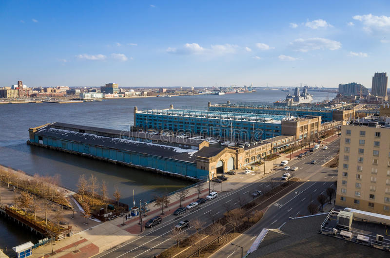 Penn Landing em Philadelphfia foto de stock