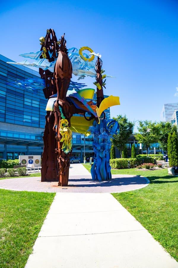 Penn State Hershey Art Display royalty-vrije stock afbeeldingen