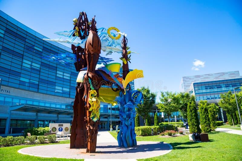 Penn State Hershey Display Sculpture royalty-vrije stock foto